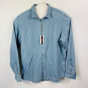Michael Kors Slim Fit Button Front Denim Shirt